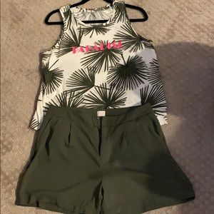 A New Day short set worn once! Price is for set